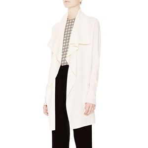 Theory Trincy Cream Open Front Knit Cardigan NEW